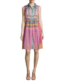 Nieves Zen Scarf A-Line Dress, Pink