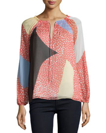 Parry Starfish Placement Silk Top