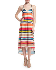 Cortes Striped Racerback Midi Dress, Multicolor