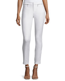 Skinny Stretch Ankle Pants, Snow