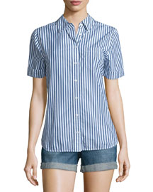 Easton Short-Sleeve Striped Shirt, Westward Striped