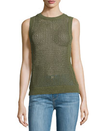 The Rope Stitch Tank, Burnt Olive Military