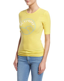 Le St. Tropez Short-Sleeve Tee, Canary Yellow