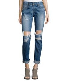 Dre Distressed Cuffed Jeans, Kennedy