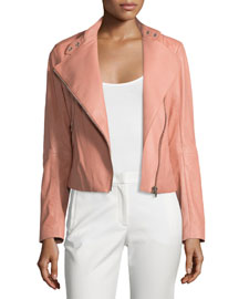 New Alpha Leather Jacket, Rose
