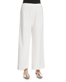 Sirius Cropped Wide-Leg Pants, Ivory