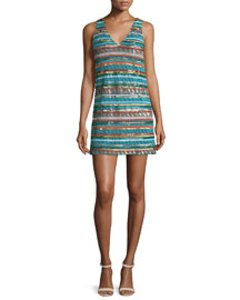 Venetia Sequin Mini Dress, Multicolor