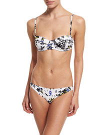 Floral-Printed Two-Piece Underwire Bikini Swimsuit Set