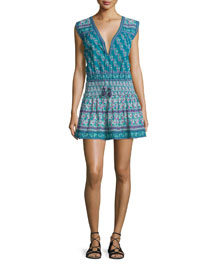 Samandi Sleeveless Split-Neck Dress, Seasalt