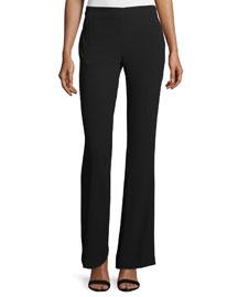 Marg Mid-Rise Flare-Leg Pants, Black