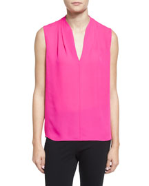 Judith Sleeveless Silk Blouse, Chelsea Girl