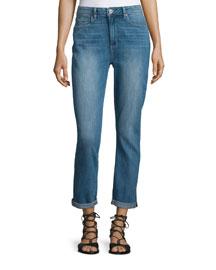 Carter Slim-Leg Cropped Jeans, Blue
