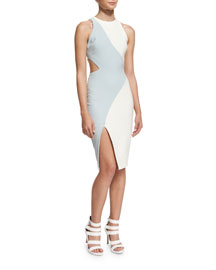 Amina Colorblock Cutout Dress