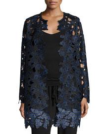 Lauren Long Lace Coat, Black