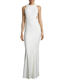 Russell Sleeveless Maxi Dress, Ivory