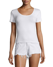 Melrose Short-Sleeve Tee, Bright White