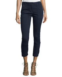 Field Cropped Chambray Cargo Pants, Indigo