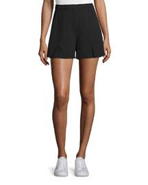 Crepe Flutter Shorts, Black