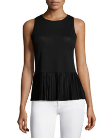 Elvnee Drapey Pleated Peplum Top