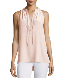Livilla Summer Silk Sleeveless Top