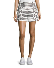Hamilton Striped Shorts, Ivory/Black
