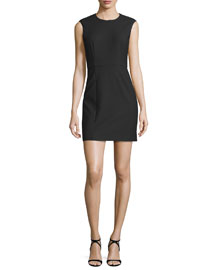 McKay Sleeveless Open-Back Mini Dress, Black
