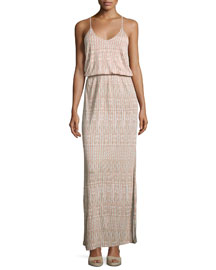 Nahia Printed Blouson Maxi Dress