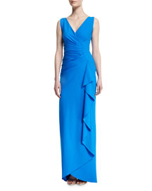 Chastity Sleeveless Ruched Gown, Mare