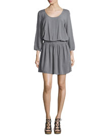 Zandi Mini Dot-Print Blouson Dress