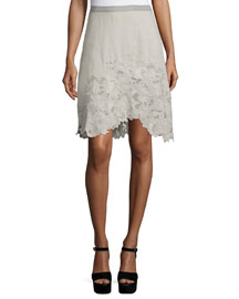 Connie Embroidered A-Line Skirt