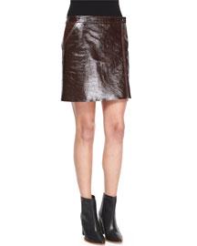 Berdin L. Polished Leather Skirt