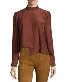 Le Asymmetric Long-Sleeve Shirt, Andorra