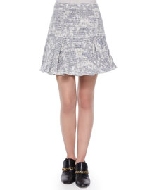 Cotton-Blend Fit-and-Flare Skirt