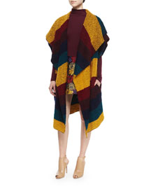 Muriel Striped Oversized Shawl, Multicolor