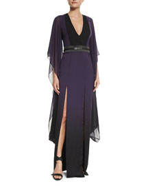 Long Ombre Caftan Dress