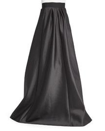 Long Satin Ball Skirt