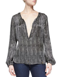 Cobra Split-Neck Blouse