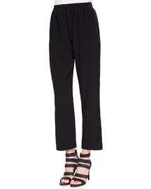 Satin-Stripe Pull-On Pants
