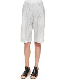 Hemstead Striped Long Shorts