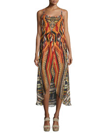 Chiapas Dance Embellished Coverup Dress, Multi Colors