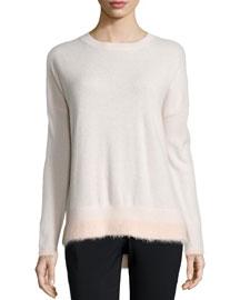 Boxy Long-Sleeve Sweater, Ballet