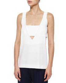 Deep V-Neck Tank With Band