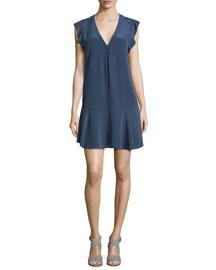 Almarie Silk Sleeveless Shift Dress