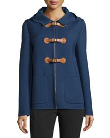 Zip-Front Hooded Jacket, Indigo