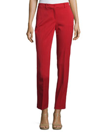 Samantha Skinny Ankle Pants, Crimson