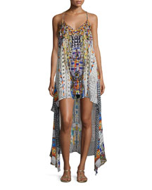 Embellished High-Low Coverup Dress, Echoes of Engai