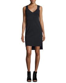 Joanne Stretch Tank Dress, Black