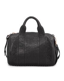 Rocco Stud-Bottom Satchel Bag, Rose Golden