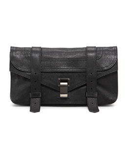 Proenza Schouler PS1 Leather Pochette, Black
