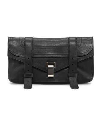 PS1 Leather Pochette, Black